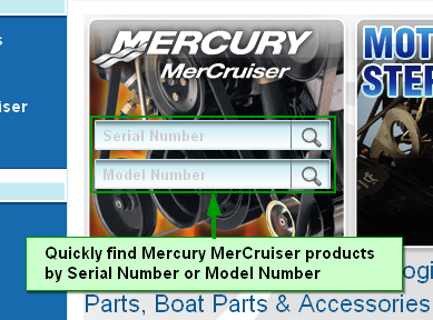 Homepage Mercury Mercuriser Quick Find by Serial or Model Number Search Box