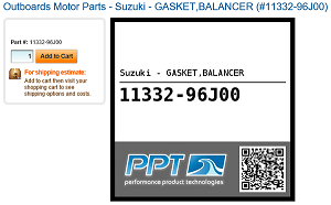 Suzuki Outboard Part Number Format for Online Searching