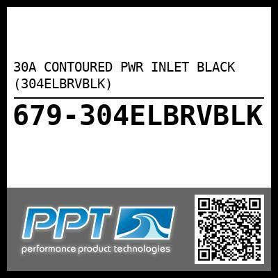 30A CONTOURED PWR INLET BLACK (304ELBRVBLK)