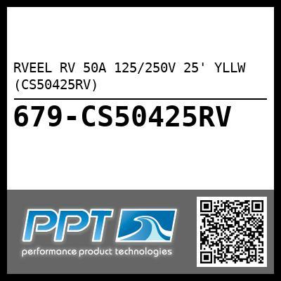 RVEEL RV 50A 125/250V 25' YLLW (CS50425RV)
