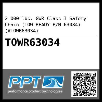 2 000 lbs. GWR Class I Safety Chain (TOW READY P/N 63034) (#TOWR63034)