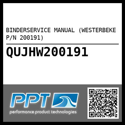 BINDERSERVICE MANUAL (WESTERBEKE P/N 200191) - Click Here to See Product Details