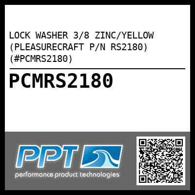 LOCK WASHER 3/8 ZINC/YELLOW (PLEASURECRAFT P/N RS2180) (#PCMRS2180) - Click Here to See Product Details