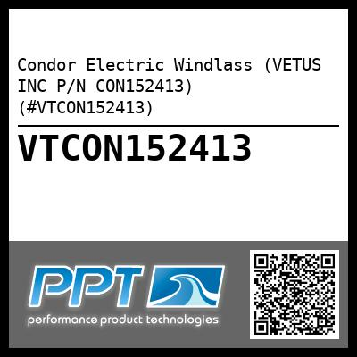 Condor Electric Windlass (VETUS INC P/N CON152413) (#VTCON152413) - Click Here to See Product Details