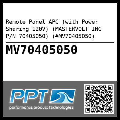 Remote Panel APC (with Power Sharing 120V) (MASTERVOLT INC P/N 70405050) (#MV70405050) - Click Here to See Product Details