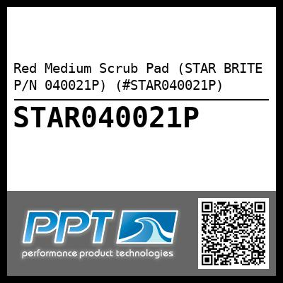 Red Medium Scrub Pad (STAR BRITE P/N 040021P) (#STAR040021P) - Click Here to See Product Details