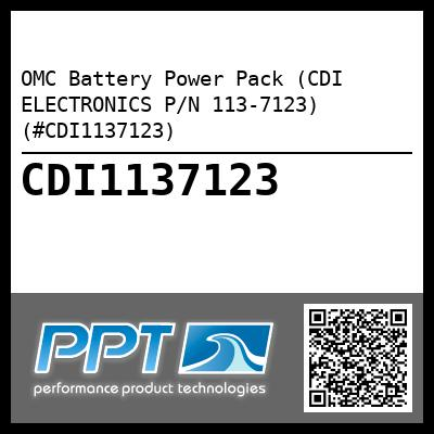 OMC Battery Power Pack (CDI ELECTRONICS P/N 113-7123) (#CDI1137123) - Click Here to See Product Details