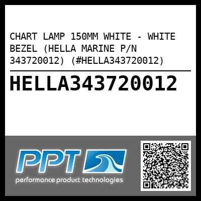CHART LAMP 150MM WHITE - WHITE BEZEL (HELLA MARINE P/N 343720012) (#HELLA343720012) - Click Here to See Product Details