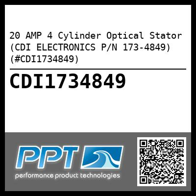 20 AMP 4 Cylinder Optical Stator (CDI ELECTRONICS P/N 173-4849) (#CDI1734849) - Click Here to See Product Details