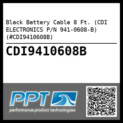 Black Battery Cable 8 Ft. (CDI ELECTRONICS P/N 941-0608-B) (#CDI9410608B) - Click Here to See Product Details