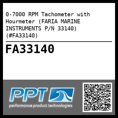 0-7000 RPM Tachometer with Hourmeter (FARIA MARINE INSTRUMENTS P/N 33140) (#FA33140) - Click Here to See Product Details