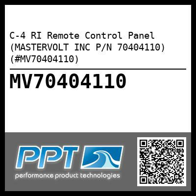 C-4 RI Remote Control Panel (MASTERVOLT INC P/N 70404110) (#MV70404110) - Click Here to See Product Details