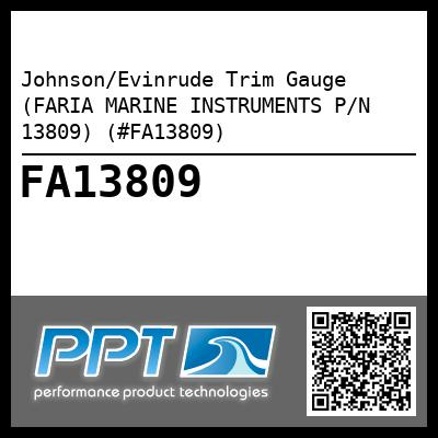 Johnson/Evinrude Trim Gauge (FARIA MARINE INSTRUMENTS P/N 13809) (#FA13809) - Click Here to See Product Details
