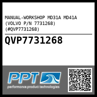manual workshop md31a md41a volvo p n 7731268 qvp7731268 rh perfprotech com 03 Volvo Penta 4.3 Volvo Penta Engine Diagram
