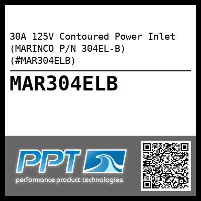 30A 125V Contoured Power Inlet (MARINCO P/N 304EL-B) (#MAR304ELB) - Click Here to See Product Details