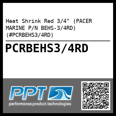Heat Shrink Red 3/4