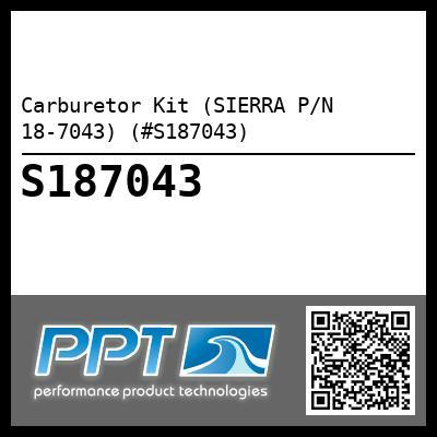 CARB KIT Sierra 18-7043