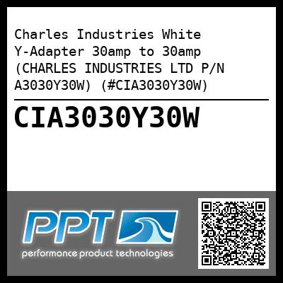 Charles Industries White Y-Adapter 30amp to 30amp (CHARLES INDUSTRIES LTD P/N A3030Y30W) (#CIA3030Y30W) - Click Here to See Product Details
