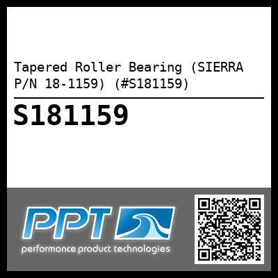 Tapered Roller Bearing (SIERRA P/N 18-1159) (#S181159)