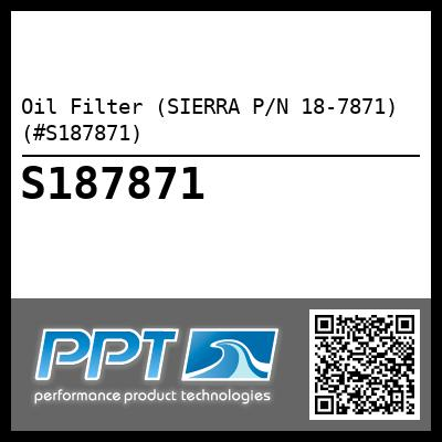 Oil Filter (SIERRA P/N 18-7871) (#S187871) - Click Here to See Product Details