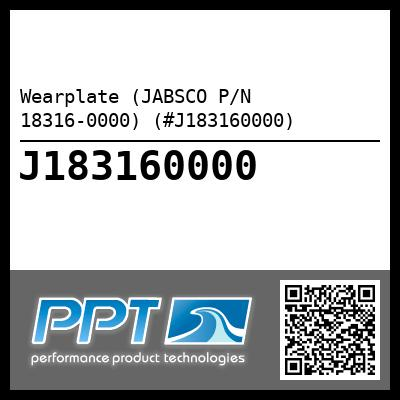 Wearplate (JABSCO P/N 18316-0000) (#J183160000)