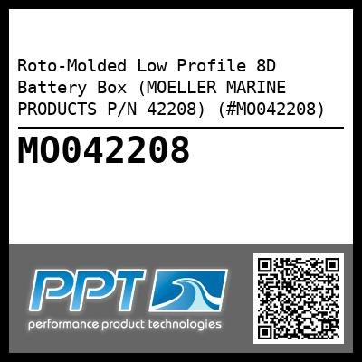 Roto-Molded Low Profile 8D Battery Box (MOELLER MARINE PRODUCTS P/N 42208) (#MO042208)