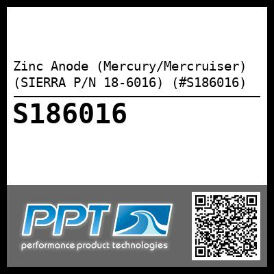 Zinc Anode (Mercury/Mercruiser) (SIERRA P/N 18-6016) (#S186016) - Click Here to See Product Details