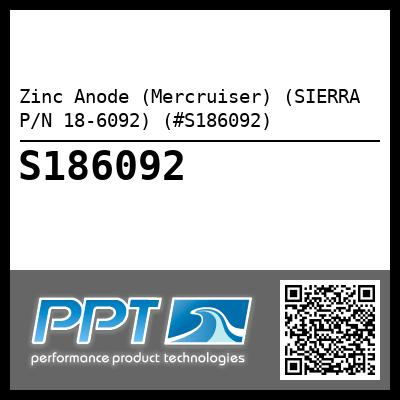 Zinc Anode (Mercruiser) (SIERRA P/N 18-6092) (#S186092) - Click Here to See Product Details