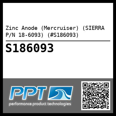 Zinc Anode (Mercruiser) (SIERRA P/N 18-6093) (#S186093) - Click Here to See Product Details