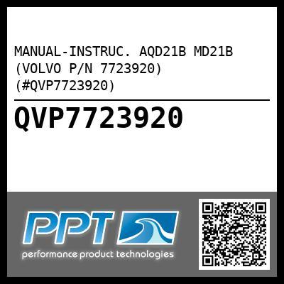 manual instruc aqd21b md21b volvo p n 7723920 qvp7723920 rh perfprotech com Volvo Manual Trans Volvo Manual Transmission