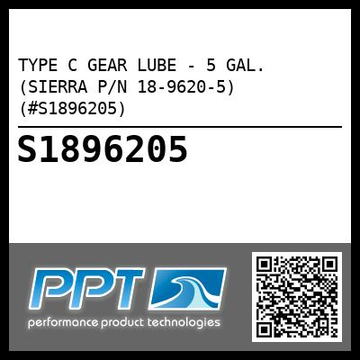 TYPE C GEAR LUBE - 5 GAL. (SIERRA P/N 18-9620-5) (#S1896205) - Click Here to See Product Details