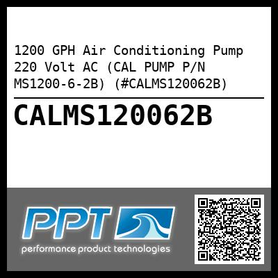 1200 GPH Air Conditioning Pump 220 Volt AC (CAL PUMP P/N MS1200-6-2B) (#CALMS120062B) - Click Here to See Product Details