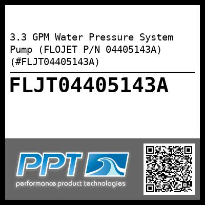 3.3 GPM Water Pressure System Pump (FLOJET P/N 04405143A) (#FLJT04405143A) - Click Here to See Product Details