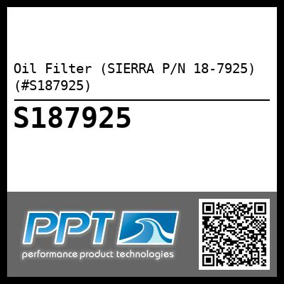 Oil Filter (SIERRA P/N 18-7925) (#S187925) - Click Here to See Product Details