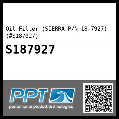 Oil Filter (SIERRA P/N 18-7927) (#S187927) - Click Here to See Product Details
