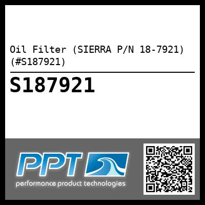 Oil Filter (SIERRA P/N 18-7921) (#S187921) - Click Here to See Product Details