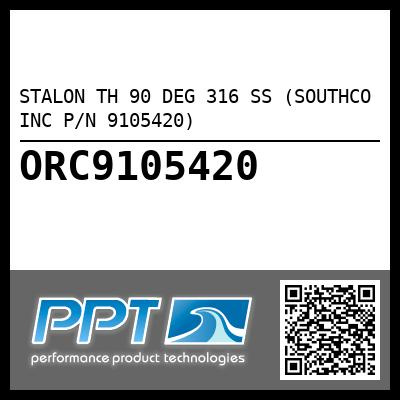 STALON TH 90 DEG 316 SS (SOUTHCO INC P/N 9105420) - Click Here to See Product Details