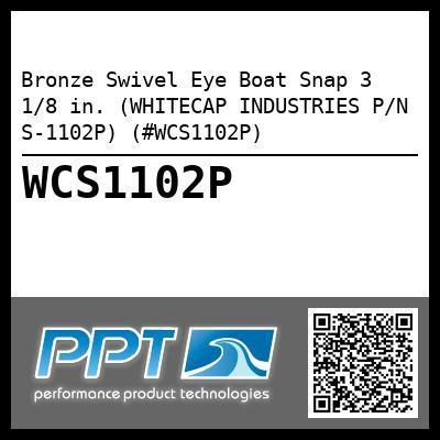 Bronze Swivel Eye Boat Snap 3 1/8 in. (WHITECAP INDUSTRIES P/N S-1102P) (#WCS1102P)