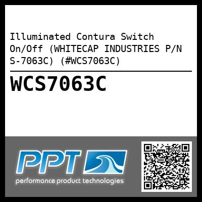Illuminated Contura Switch On/Off (WHITECAP INDUSTRIES P/N S-7063C) (#WCS7063C)