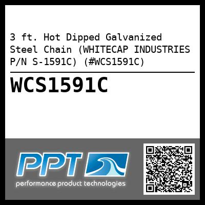 3 ft. Hot Dipped Galvanized Steel Chain (WHITECAP INDUSTRIES P/N S-1591C) (#WCS1591C)