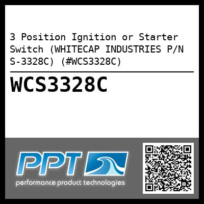 3 Position Ignition or Starter Switch (WHITECAP INDUSTRIES P/N S-3328C) (#WCS3328C)