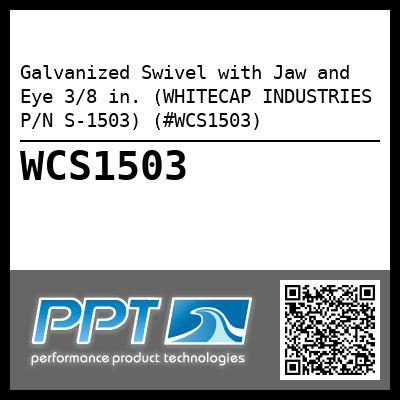 Galvanized Swivel with Jaw and Eye 3/8 in. (WHITECAP INDUSTRIES P/N S-1503) (#WCS1503)