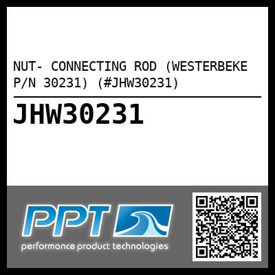 NUT- CONNECTING ROD (WESTERBEKE P/N 30231) (#JHW30231)
