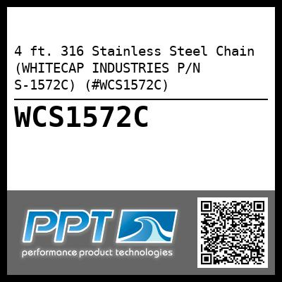 4 ft. 316 Stainless Steel Chain (WHITECAP INDUSTRIES P/N S-1572C) (#WCS1572C)