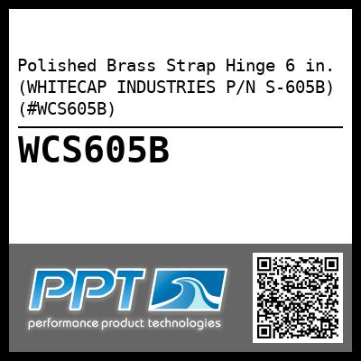 Polished Brass Strap Hinge 6 in. (WHITECAP INDUSTRIES P/N S-605B) (#WCS605B)