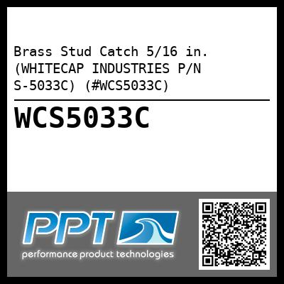 Brass Stud Catch 5/16 in. (WHITECAP INDUSTRIES P/N S-5033C) (#WCS5033C)