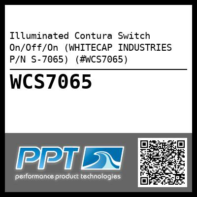 Illuminated Contura Switch On/Off/On (WHITECAP INDUSTRIES P/N S-7065) (#WCS7065)