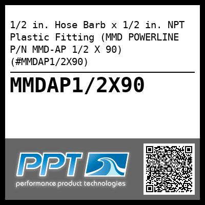1/2 in. Hose Barb x 1/2 in. NPT Plastic Fitting (MMD POWERLINE P/N MMD-AP 1/2 X 90) (#MMDAP1/2X90) - Click Here to See Product Details