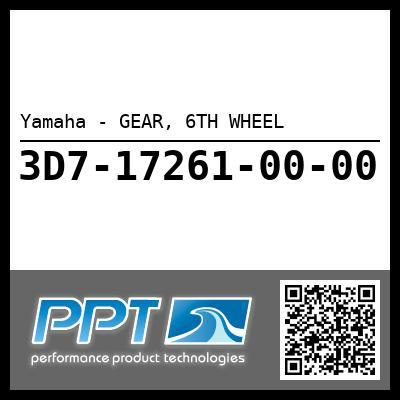 Yamaha - GEAR, 6TH WHEEL