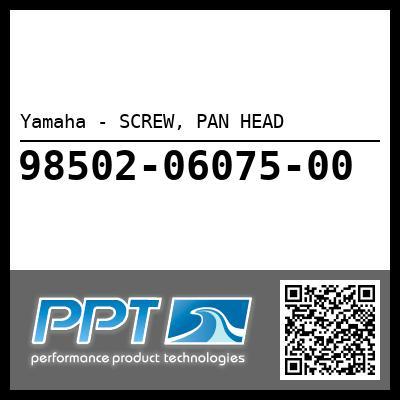 Yamaha - SCREW, PAN HEAD
